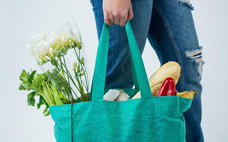 green carrier bags header